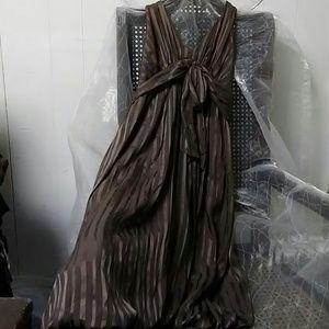 BCBGMAXAZRIA silk chiffon halter dress size 2